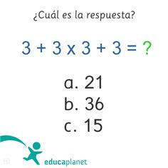 Ejercicios de matemáticas para pensar un poco creados para las redes sociales de Educaplanet