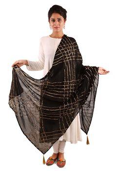 Buy Georgette # Gota embroidered dupattas,# festive designer collectionhttps://www.tjori.com/accessories/aadab/black-gota-embroidered-dupatta/