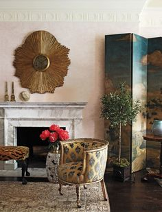 Living Room in New York, NY by Robert Couturier, Inc.