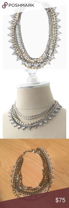 STELLA & DOT SUTTON NECKLACE Stella & Dot Sutton necklace. Able to wear 5 ways - both short and long and with a removable sparkle piece. So stunning - like new! Stella & Dot Jewelry Necklaces