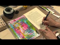 "In this clip from Kate Crane's ""Junk it Up!"" video, Kate completes a page for her junk journal using gelli prints on deli paper, scans, tags, vintage text and some freehand ink journaling. - Enjoy!Art Journaling 6 - Junk It Up! - YouTube"