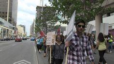 #TakeOffJustLogo Toronto Protest