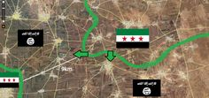 #Syria Only 9 km be needed & #FSA lay #IslamicState in northern #Aleppo under siege
