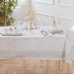 TISCHDECKE UND SERVIETTE AUS BAUMWOLLE MIT SILBERNEM KASCHMIRPRINT - Tischdecken - Tisch   Zara Home Deutschland