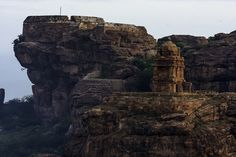 Temple atop the Badami caves www.mysteryofindia.com