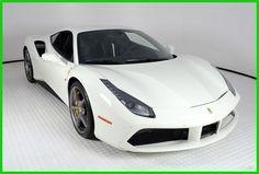 Nice Ferrari 2017: 2017 Ferrari Other Base Coupe 2-Door 2017 Ferrari 488 GTB, Bianco Avus Over Nero Leather And Alcantara, 480 Miles Check more at http://24go.gq/2017/ferrari-2017-2017-ferrari-other-base-coupe-2-door-2017-ferrari-488-gtb-bianco-avus-over-nero-leather-and-alcantara-480-miles/