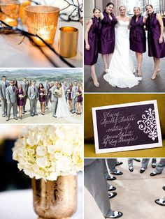 Plum and gold inspiration board