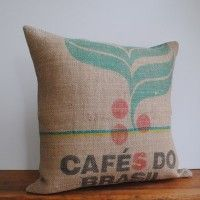 A great use for our burlap coffee sacks!