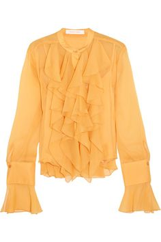 Marigold crepon Button fastenings through front 100% polyester; lining: 100% viscose Dry clean Designer color: Honey Gold Imported