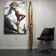 Hartzell 1940's Taylorcraft B Antique Wooden Wood Airplane Propeller from Aviation Art | Airplane Furniture | Pilot Gifts - Plane Pieces Inc