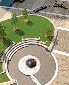 amphitheatres in parks razmeri Outdoor Amphitheatre Landscape Plaza, Landscape Elements, Landscape Architecture Design, Contemporary Landscape, Urban Landscape, Architecture Diagrams, Architecture Portfolio, Parks, Parque Linear