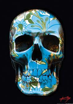 b1971f6b52892 Unique beautiful designer skull artwork by Sunshine Coast artist Gerrard  King. Original paintings