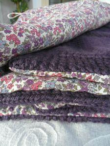 plaid tricot doublé