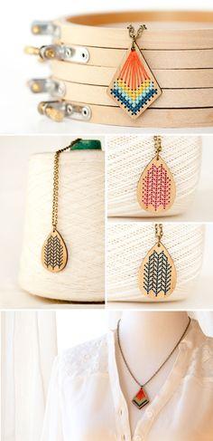 Cross+stitch+bamboo+pendants+by+Red+Gate+Stitchery