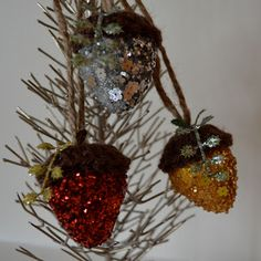 DIY Knitted Acorn Ornaments