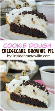 Cookie Dough Cheesecake Brownie Pie - https://www.luxury.guugles.com/cookie-dough-cheesecake-brownie-pie/