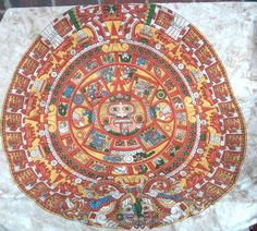 Mayan Aztec Face Calendar Tablecloth Wall Hanging 60 by 90 #SunshineJoy