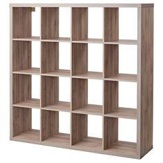 KALLAX Shelf unit - walnut effect light gray - IKEA