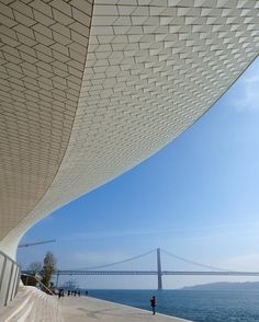 """463 Gostos, 25 Comentários - Travellight (@thetravellightworld) no Instagram: """"Two of Lisbon's architectural simbols: the new Museam of Art, Architecture and Technology and  the…"""""""