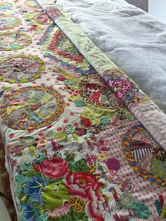 Detail of Kate Knight's basting service quilt.