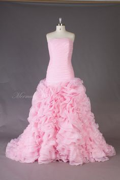 Pink Prom Gown Fabulous Ruched  Organza Ball gown by MermaidBridal, $369.99