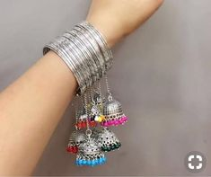 Jhumka thin bangles 12 bangles To order click on the link above