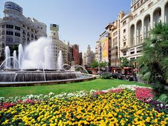 Espanha e suas flores e culinária maravilhosa!