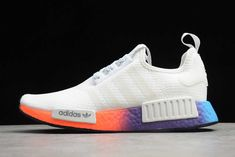 2020 Release adidas NMD R1 White/Multi-Color Sneakers For Sale D8302 Adidas Nmd R1, Adidas Sneakers, Sneakers For Sale, Color, Women, Fashion, Moda, Colour, Fashion Styles