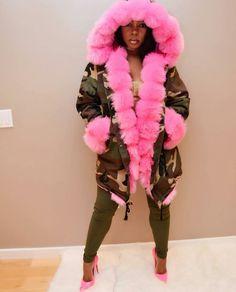 Pink Camo Fur