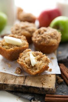 Healthy Apple Muffins (with Greek yogurt)