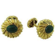 Tiffany & Co. Jean Schlumberger Malachite Cufflinks