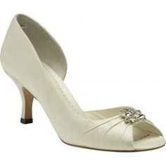 Celine By Benjamin Adams Wedding Shoes In White http://www.bellissimabridalshoes.com/wedding-heels/white-benjamin-adams-celine-bridal-shoes