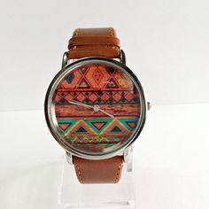 Uhr mit Aztekenprint #ethno