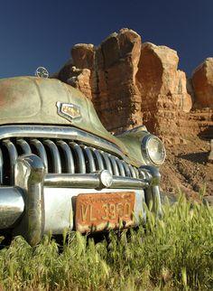 Buick near Bluff, Utah. © Scott Cressman.