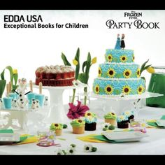 A complete #Disney #Frozen Fever Party Experience For The Whole Family To Enjoy, Published By @eddausa. #disneyparty #FrozenFever #frozenparty #crafts #recipes #invitations #EDDAUSA #cakes #decorations #celebration #FunTimes #family #familytime