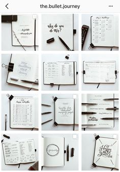 Minimalist style bullet journal