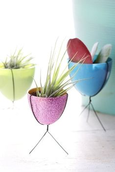 Twist a wire base around half of a plastic egg to make a cute little bullet planter. | 19 Adorable Barbie Accessories You Can Make For Your Kids