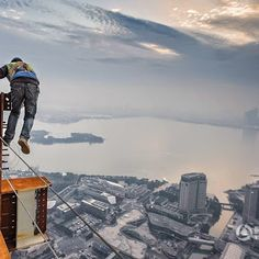 The creators of China miracle: workers working on skyscraper construction projects in Suzhou, Jiangsu Province