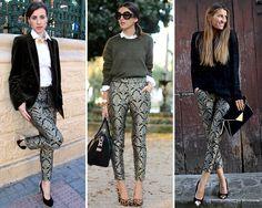 ZARA is the new black. Pantalones estampados