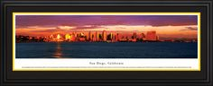 San Diego, CA City Skyline Panoramic Pictures & Posters