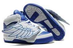 new style 391cd 07367 Adidas Jeremy Scott Wings Blue White shoes