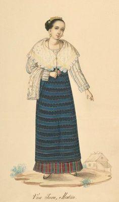 Filipino Costume, 1840s.