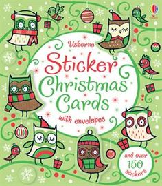 #DIY #Christmas cards A box of 15 individually-designed Christmas cards with stickers to complete them, and decorative envelopes to send them in. Children will e...