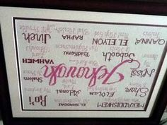 Jehovah stitched by Sandra Sasser Berry Tones Modern Cross Stitch Patterns, Cross Stitch Designs, Needle Minders, Names Of God, Friendship Gifts, Jehovah, Joyful, Baby Gifts, Bible Verses