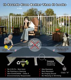 Aluminum decking WITHOUT THE PING by Versadeck Decking