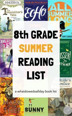 grade reading list - great for summer reading. Summer Reading Program, Summer Reading Lists, Kids Reading, Reading Help, Early Reading, 8th Grade Reading List, 8th Grade Ela, Best Children Books, Books For Teens