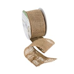 """Wired Natural Ribbon 2.5"""" x 7 yds - OrientalTrading.com $6"""
