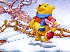 Disney christmas wallpaper desktop winnie the pooh Ideas for 2019 Winnie The Pooh Pictures, Winnie The Pooh Quotes, Winnie The Pooh Friends, Disney Winnie The Pooh, Images Wallpaper, Disney Wallpaper, Cartoon Wallpaper, Wallpapers, Wallpaper Murals