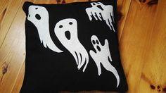 halloween pillow - closeup