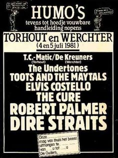 The Cure Rock Werchter Festival Festival ParkWerchter, Belgium July 5th, 1981